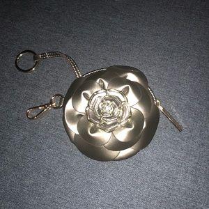 Valentino Flower Coin Purse Key Chain